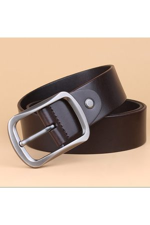 Newchic Men Business Cowhide Belt Genuine Leather Waistband Needle Buckle Casual Youth All-match Belt
