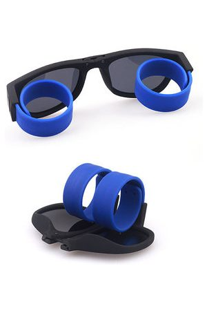 Newchic Women Men Unique Funny Bracelet Sunglasses Polarized Novelty Foldable Sun Glasses