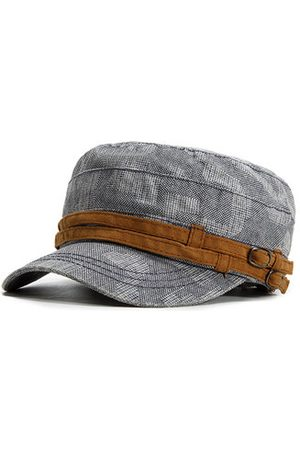 Newchic Men Retro Casual Breathable Cotton Military Hat Outdoor Sports Solid Color Flat Cap
