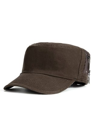 Newchic Men Simple Durable Cotton Military Hat Outdoor Travel Casual Anti-UV Flat Cap