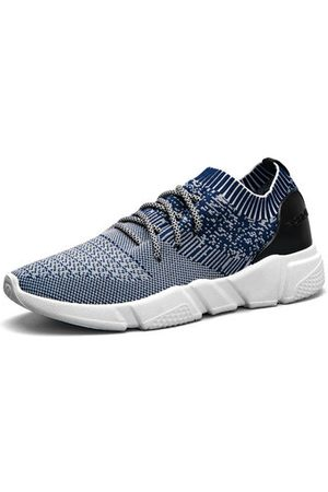 Newchic Men Shoes - Men Strech Flyknit Fabric Breathable Light Running Shoes Sport Casual Sneakers