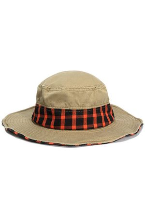 Newchic Men Cotton Wide Brim Suncreen Bucket Hats Outdoor Travel UV Protection Fisherman Hats
