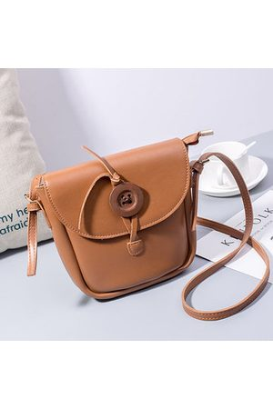 Newchic Casual PU Leather Button Bucket Shoulder Bag Crossbody Bags For Women