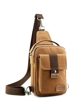 Newchic Men Rucksacks - Casual Bag Messenger Bag Shoulder Bag Canvas Small Backpack Sports Bag For Men