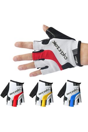 Newchic Men Gloves - Mens Women Half Finger Breathable Sweat Bicycle Bike Gloves Anti-Slip Damping Outdoor Gloves