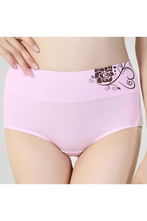 Newchic Comfortable Stretchy Cotton High Waist Breathable Panties For Women