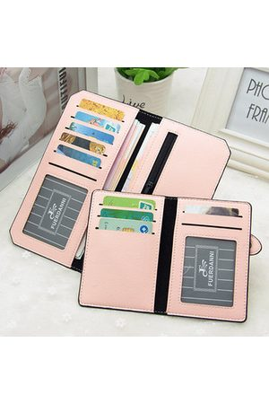 Newchic Women PU Leather Ultra Thin Card Slots Wallet Purse