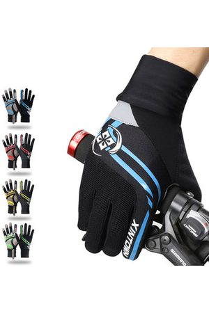 Newchic Men Sports Accessories - Men Breathable Full Finger Gloves Outdoor Sports Riding Thick Pad Gloves