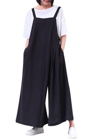 Newchic Casual Solid Strap Wide Leg Jumpsuits