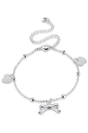 Newchic YUEYIN Bowknot Heart Anklet