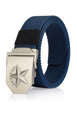 Newchic 125CM Casual Nylon Smooth Buckle Belt Durable Breathable Tactical Canvas Belt For Men