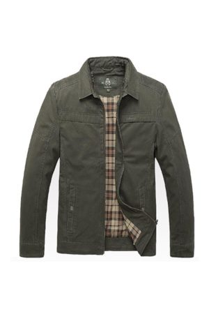Newchic Men Outdoor Jackets - Plus Size Outdoor Cargo Loose Cotton Jackets for Men