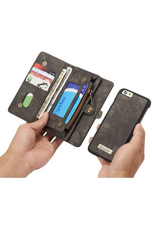 Newchic Men Phone Cases - CaseMe Genuine Leather 10 Card Slots Phone Case