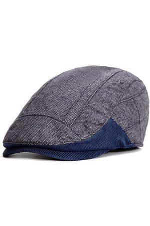 Newchic Mens British Style Cotton Berets Caps Casual Curved Brim Sunshade Flat Forward Hats