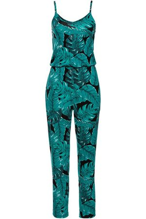 Newchic Women Casual Printed V-Neck Beach Jumpsuits