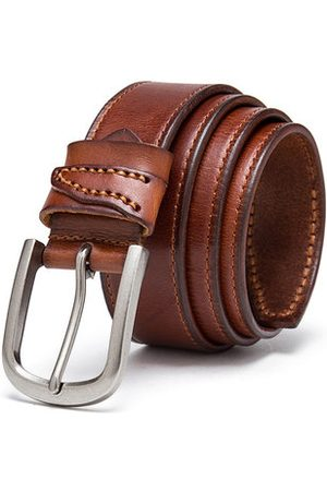 Newchic 120CM Mens Casual Genuine Leather First Layer Of Leather Belt Alloy Pin Buckle Jeans Waistband