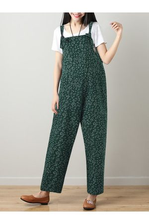Newchic Printed Strap Pockets Jumpsuits