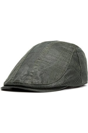 Newchic Mens Vintage Casual Solid Color Berets Caps Sunscreen Breathable Forward Hat Adjustable