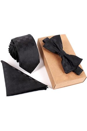 Newchic Men Bow Ties - Vintage Tie Sets Neck Tie Bow Tie Pocket Square Towel