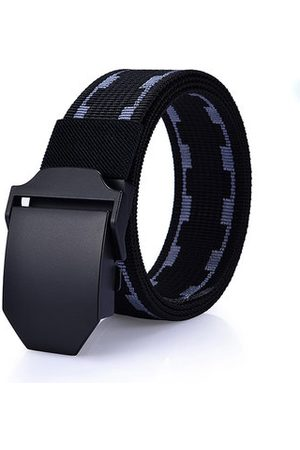 Newchic 125cm Men New Canvas Nylon Waistband Durable Outdoor Sports Casual Automatic Buckle Belt