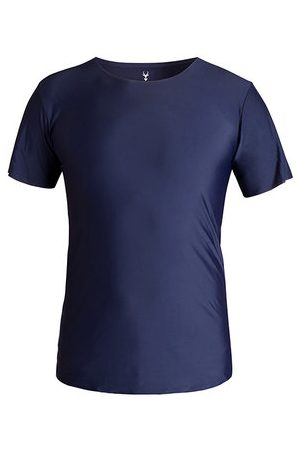 Newchic Mens Summer Ice Silk Breathable Comfortable Solid Color Casual T-shirt Sport Tops