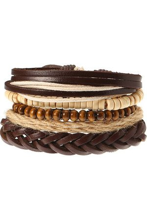 Newchic Multilayer Leather Bead Bracelet