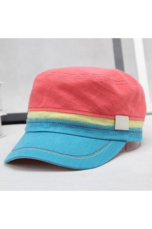 Newchic Men Colorful Cotton Military Cap Outdoor Casual Breathable Sunscreen Flat Hat