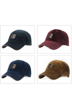Newchic Men Caps - Mens Classic Style Warm Solid Baseball Hat Outdoor Casual Snapback Caps
