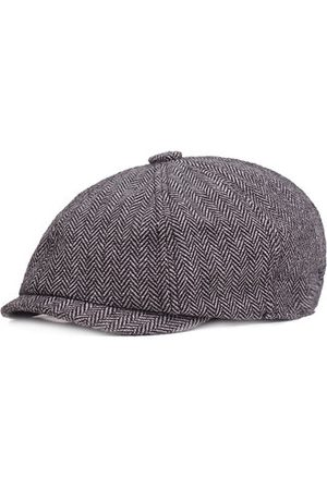 Newchic Men Hats - Men Vintage Octagonal Cotton Newsboy Beret Cap Travel Handsome Plaid Casual Hat