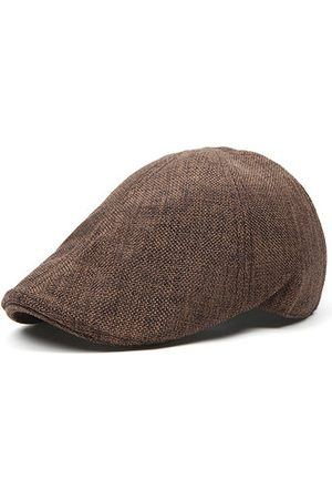 Newchic Men Hats - Men Retro Breathable Grid Beret Hat