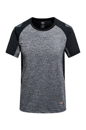 Newchic Mens Summer Outdoor Quick-drying Breathable O-neck Short Sleeve Casual Sport T-shirt