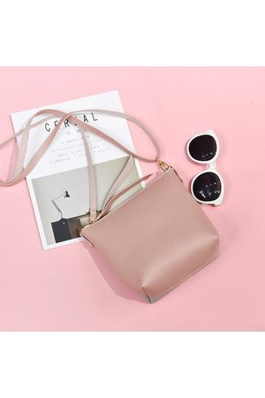 Newchic Women PU Leather Hit Color Bucket Bags Crossbody Bag