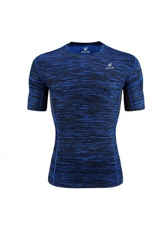 Newchic Mens Quick-drying Perspiration O-neck Short Sleeve Jogging Fitness Sport T-shirt