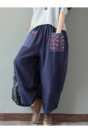 Newchic Print Patchwork Pants For Women