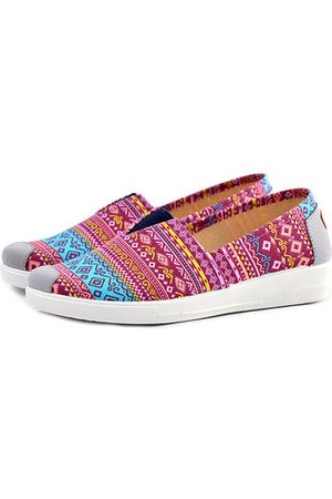Newchic Colorful Pattern Cloth Retro Flat Slip On Shoes