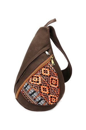 Newchic Women Canvas National Chest Bags Vintage Crossbody Bags