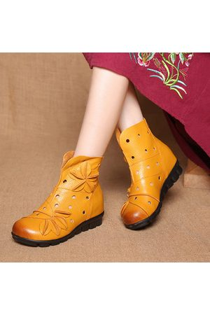 Newchic SOCOFY Vintage Flat Boots