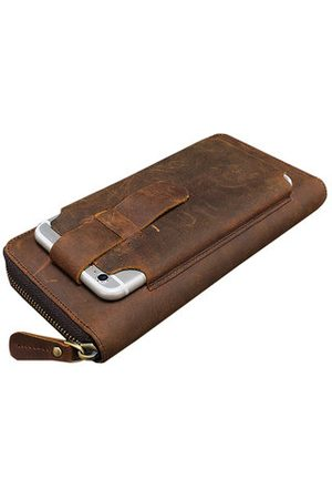 Newchic Men Wallets - Genuine Leather Vintage 5.5 Inche Phone Wallet For Men