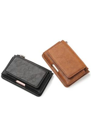Newchic PU Leather Waist Bag Casual Vintage IPhone7/7Plus/6s/6Plus Phone Case Wallet Crossbody Bag For Men