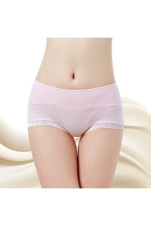 Newchic Women Bodies - Lace Pure Color Cotton Body-shaping Comfy Breathable Panties