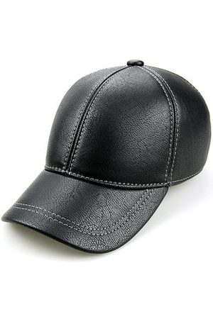 Newchic Mens PU Leather With Ear Flaps Keep Warm Baseball Cap Outdoor Visor Trucker Hats Adjustable
