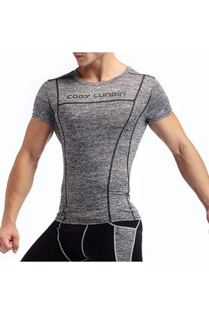 Newchic Men T-shirts - Mens Pro Compression Fitness Short Sleeve Running Sportswear Breathable T-shirt