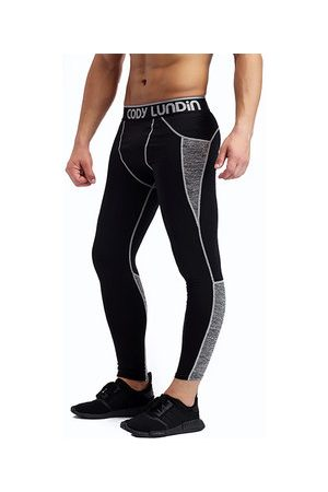 Newchic Men Pants - Mens Pro Cool Compression Tights Sport Training Running Fitness Trousers