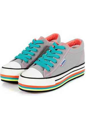 Newchic M.GENERAL Lace Up Colorful Flat Casual Shoes