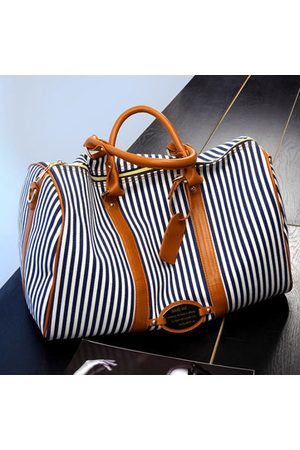 Newchic Women Canvas Stripe Large Capacity High-end Luggage Bag Travel Bag