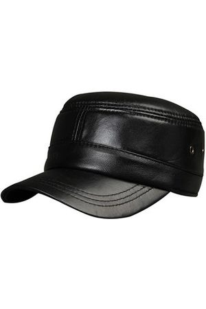 Newchic Mens Sheepskin With Ventilation Holes Flat Top Hat Outdoor Military Exercise Warm Baseball Cap