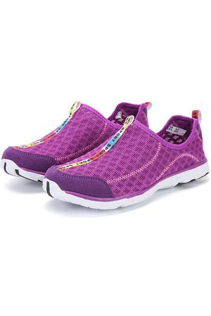 Newchic Women Casual Shoes - Large Size Quick Drying Breathable Mesh Slip On Outdoor Casual Shoes