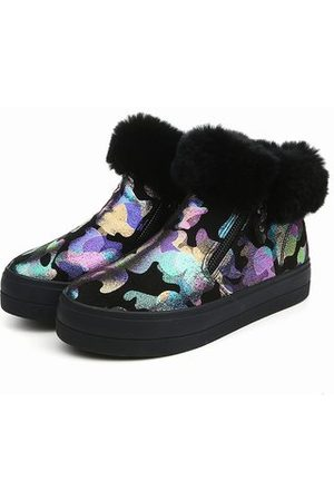 Newchic Graffiti Fur Colorful Painting Shoes