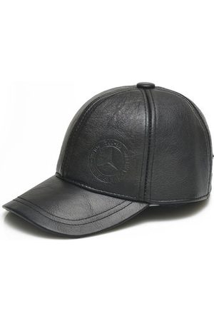 Newchic Men Genuine Leather Cowhide Baseball Cap With Ear Flaps Winter Warm Duck Hats For The Old