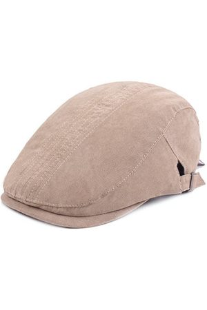 Newchic Men Vintage Cotton Pure Color Beret Cap Classic Newsboy Hats